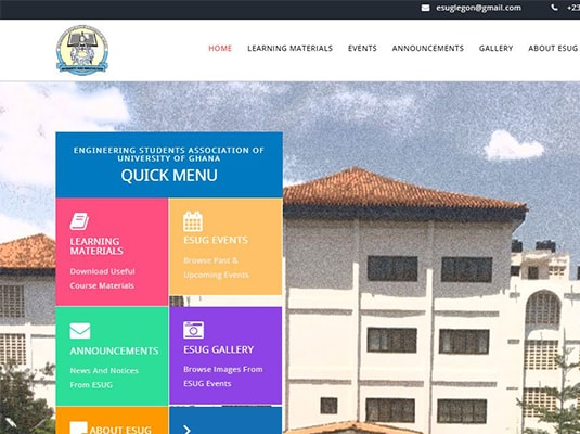Engineering Students of University of Ghana Official Website